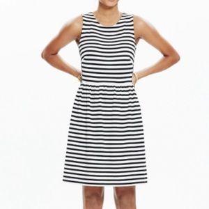 Madewell Black & White Stripped Dress